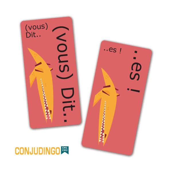 Les cartes du jeu ConjuDingo CM1-CM2