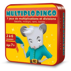 Boite 3D en métal du jeu de cartes MultiploDingo