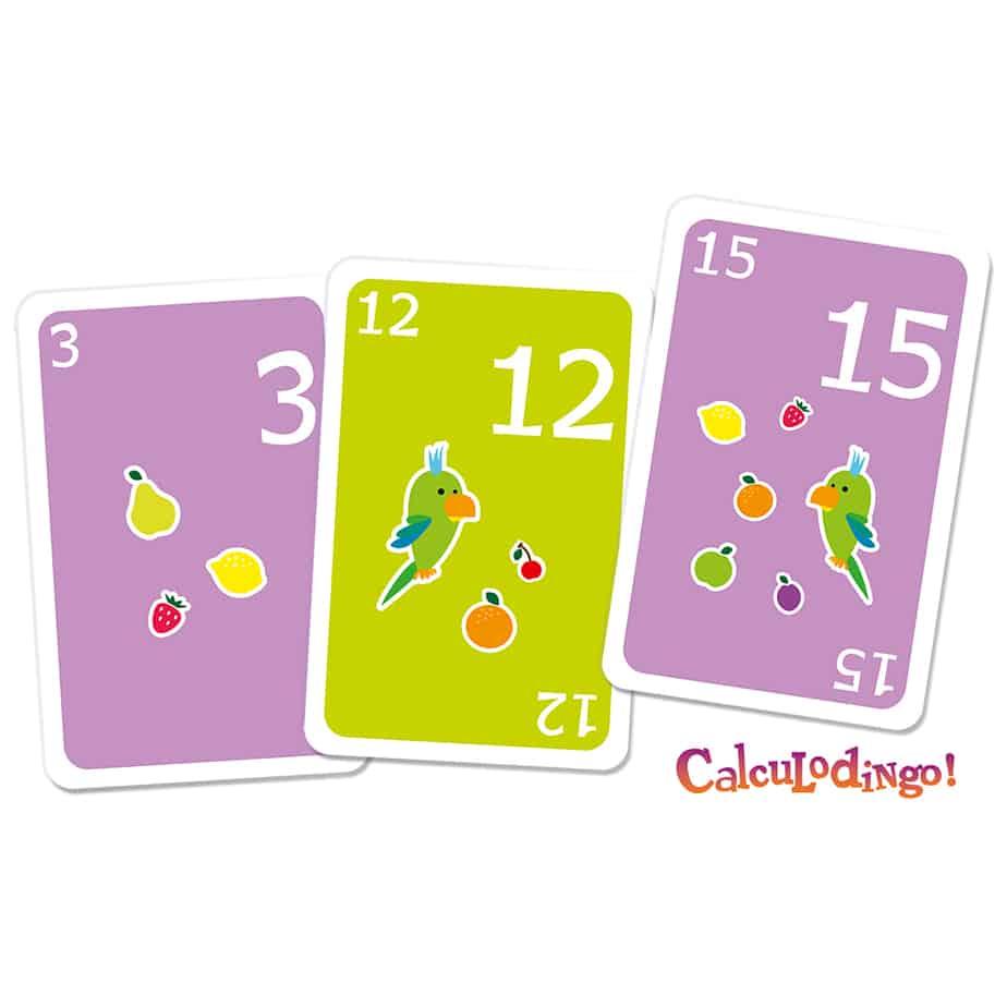Les cartes du jeu CalculoDingo