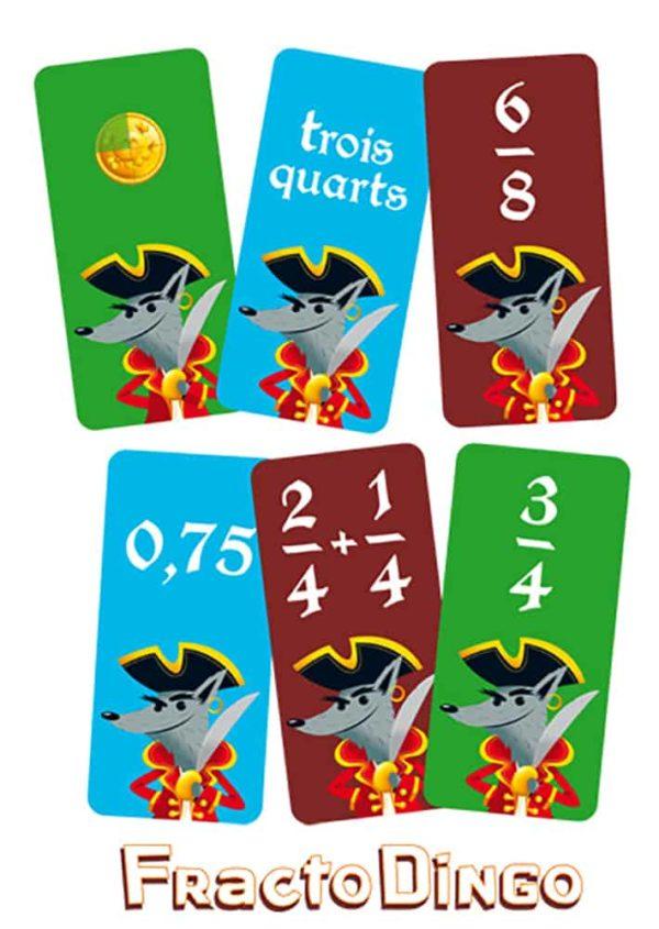 Les cartes du jeu FractoDingo