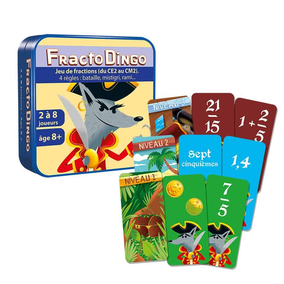 Boite du jeu avec les cartes plus les exemples.