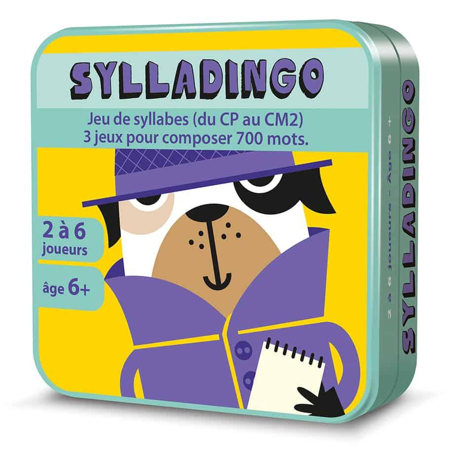 Boite métal 3D du jeu de cartes SyllaDingo