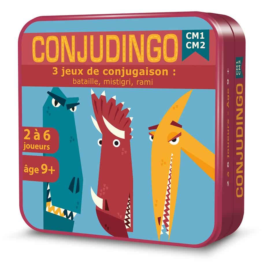 Boite 3D en métal du jeu de cartes ConjuDingo CM1-CM2