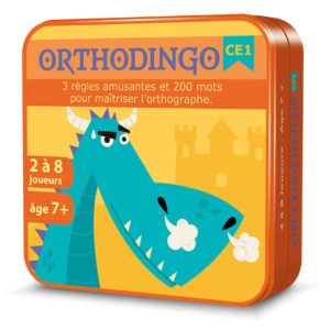 Boite métal 3D du jeu de cartes OrthoDingo CE1