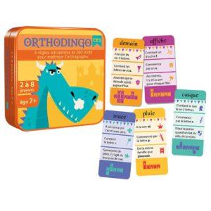 Eclate visuel du jeu de cartes OrthoDingo CE1