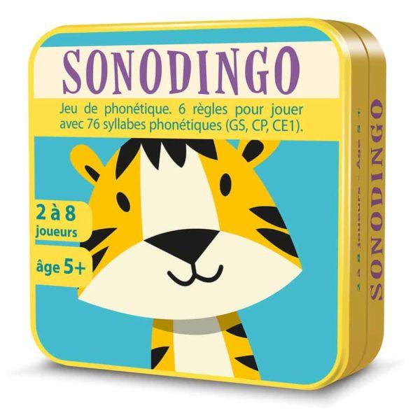 Boite métal 3D du jeu de cartes SonoDingo