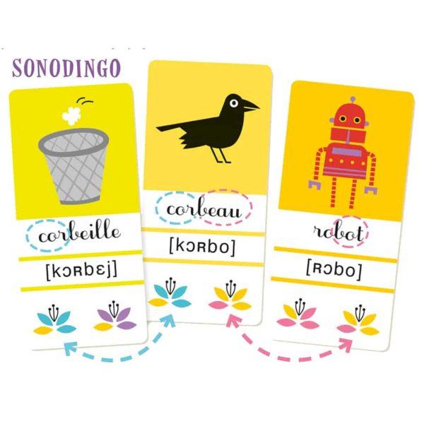 Explication du principe d'autocorrection des cartes du jeu SonoDingo