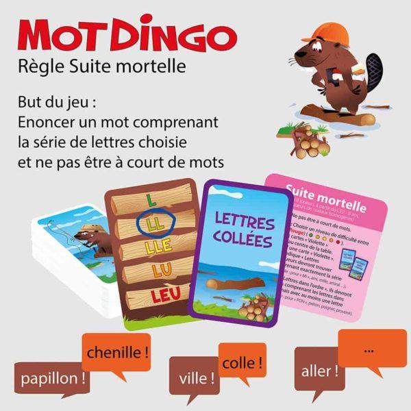"""Explication de la règle """"Suite Mortelle"""" du jeu de cartes Motdingo"""
