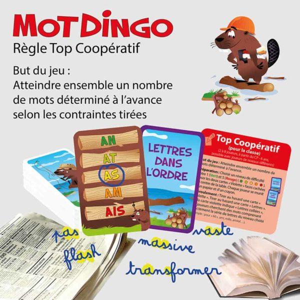 "Explication de la règle ""Top Coopératif"" du jeu de cartes Motdingo"