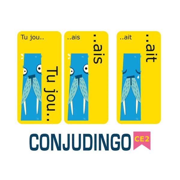 Exemple de cartes du jeu Conjudingo CE2