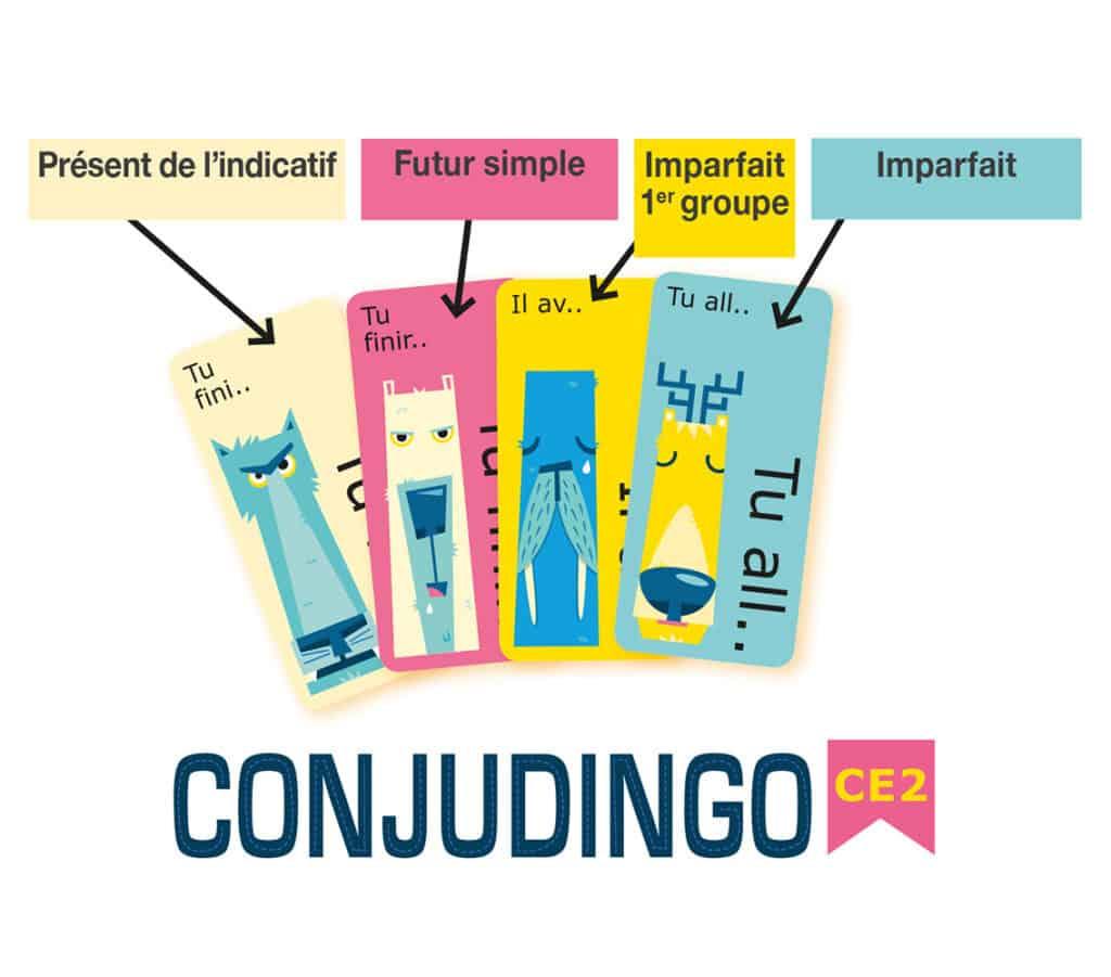 Contenu du jeu ConjuDingo CE2
