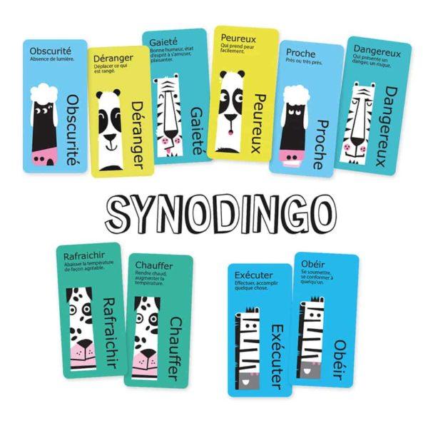 Les cartes du jeu SynoDingo