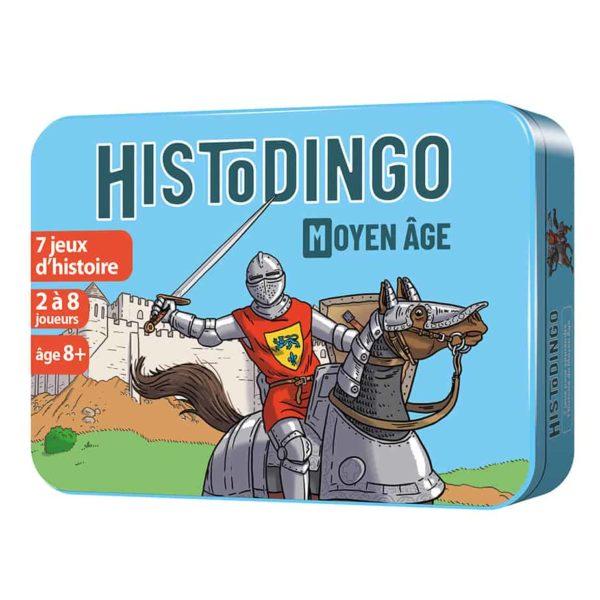Boite 3D en métal du jeu de cartes HistoDingo Moyen Age