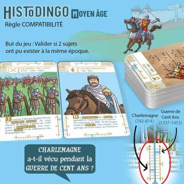 Explication de la règle Compatibilitédu jeu HistoDingo Moyen Age