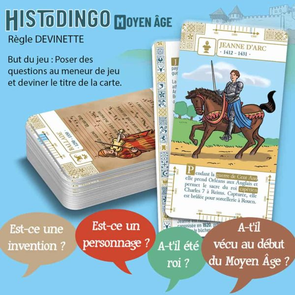 Explication de la règle Devinette du jeu HistoDingo Moyen Age