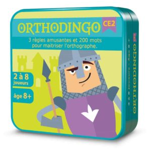 Boite métal 3D du jeu de cartes OrthoDingo CE2